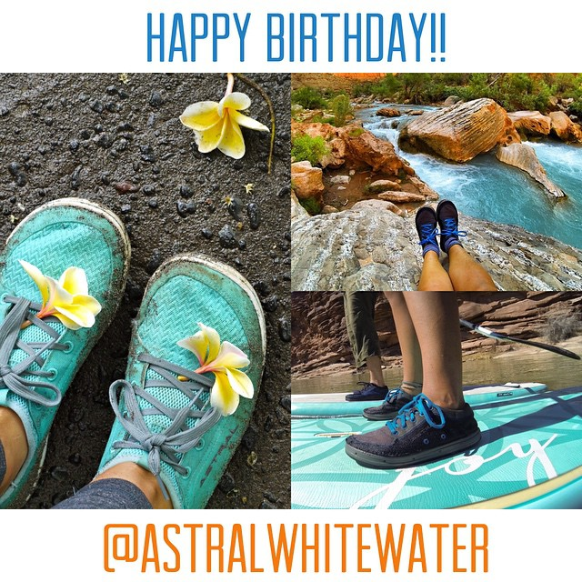 Happy birthday to one of the coolest brands I know! Stoked to be part of the @astralwhitewater family!! Always raising the bar both on and off the water! Thanks for kicking ass! I can't wait to see what next adventure awaits in my astral gear!...