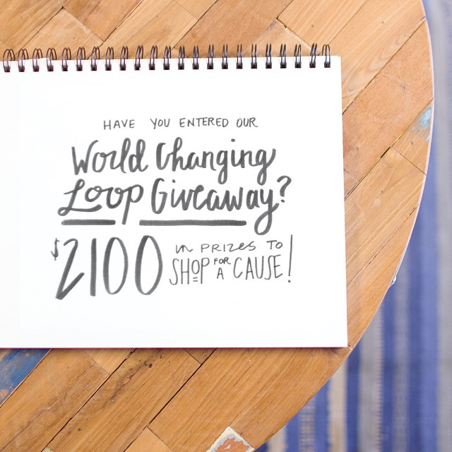 We've loved being a part of this World Changing Loop Giveaway! Thanks to all who've entered and shared our mission along with the other impactful brands we've teamed up with like @puravidabracelets, @theshineproject, @peoplewater, @sevenly,...