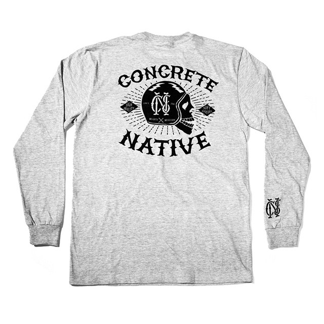 The Death or Glory long sleeved tee is perfect for a nice spring day cruising the back roads or hitting up your favorite skate spot #concretenative #noguts #noglory #realshitforrealpeople #skatelife #longboardlife #motorcyclelife
