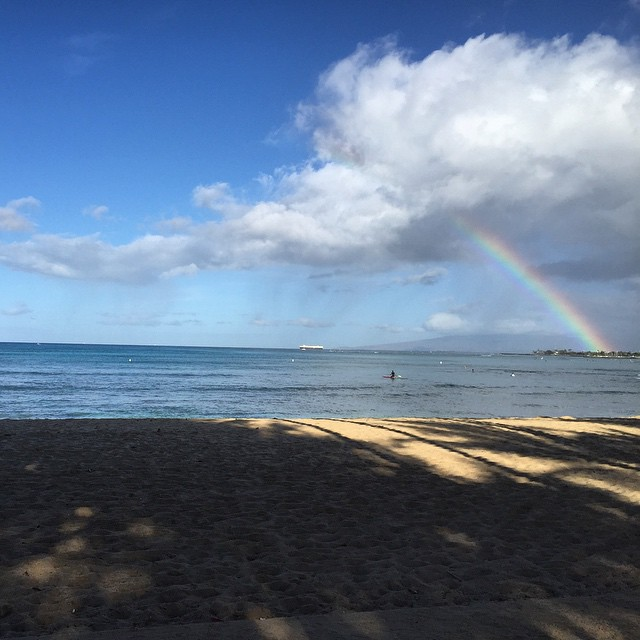 Are there more rainbows in Hawaii or SF? If you're in the #castro, I think SF might take the cake on that one.  Dat's why we love it! #butdanghawaiiispretty #aloha #hawaii #sanfrancisco