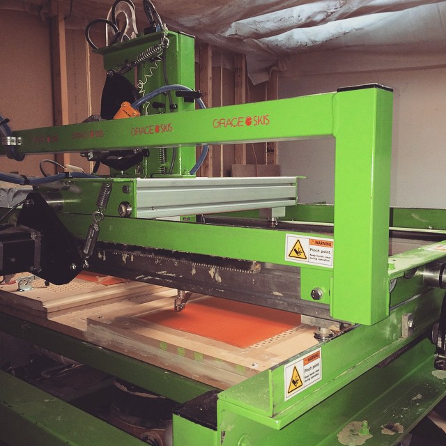 While everyone is slaying the #powder in #Utah... We have #brain our CNC router mill with a remote motherboard making bases for next years #crop of #orangehotness #gettingitdoneindenver