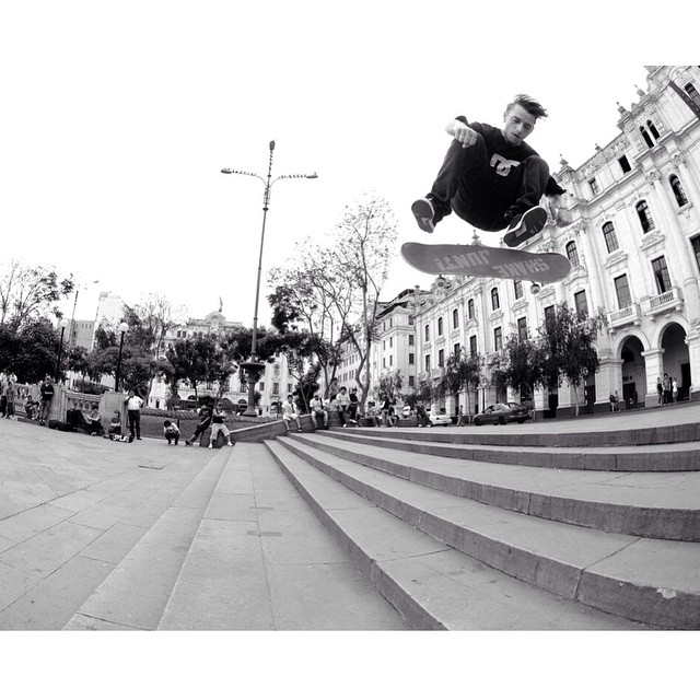 @carlosiqui can skate everything! Triple set switch flip in Lima, Peru. Photo: @gastonfrancisco #CarlosIqui #DCShoes