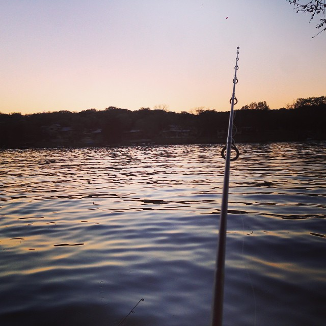 Not a bad way to end the day. #anotherdayonlakeaustin