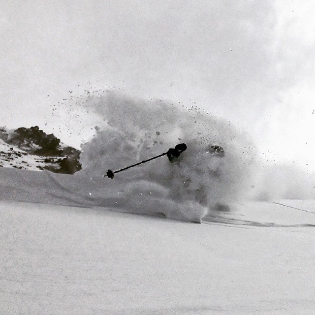 Flylow compadre @dougtheskier here to show/tell you it snowed in the Rado yesterday... And it's still snowing. #embracethestorm