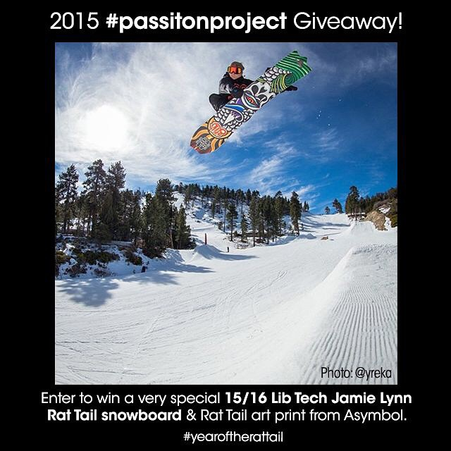 The 2015 #passitonproject contest is entering its final week. If you haven't entered to win a @libtechnologies Jamie Lynn Rat Tail board and Rat Tail print from @asymbol yet, whatcha waiting for? Link in @libtechnologies profile. #passitonproject...