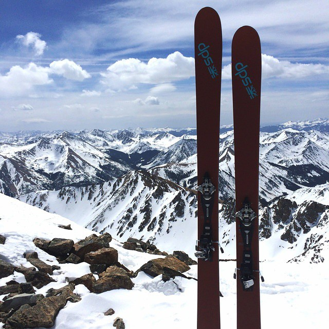 The high corn harvest is on! Billy Grimes atop La Plata Peak, CO - 14,336 ft. #Wailer105 #dpsskis #spring #backcountry #skiing
