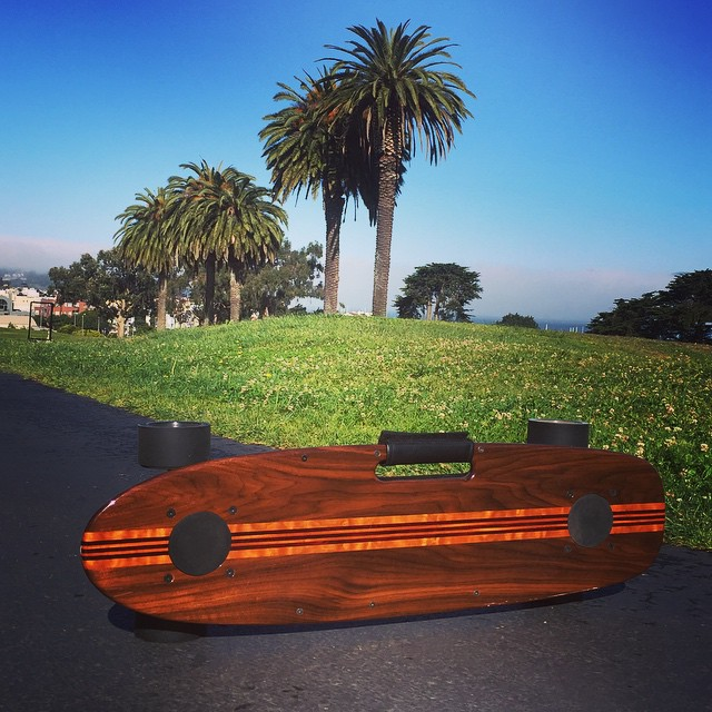 Perfect sunny Friday to bust out the Woody Special! #zboard