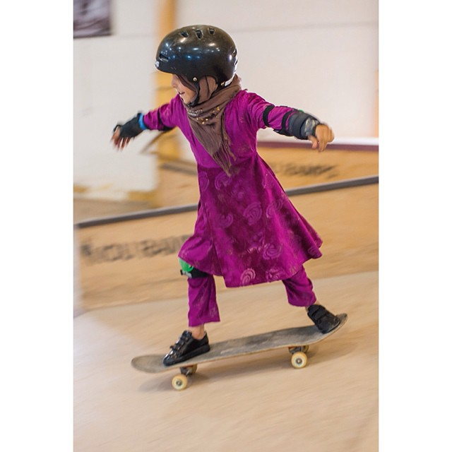 #TGIF! Hope you all have plans to do what you are passionate about this #weekend. This young #Afghan #girl loves #skateboarding, thank you @skateistan for fueling her #passion and Jessica Fulford-Dobson for capturing it so beautifully....