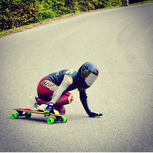 Watch out for @sk8namaste ready to pass you down the hills #keepitholesom