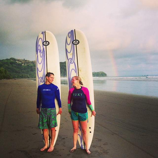 What could be better than learning to surf alongside the one you love?