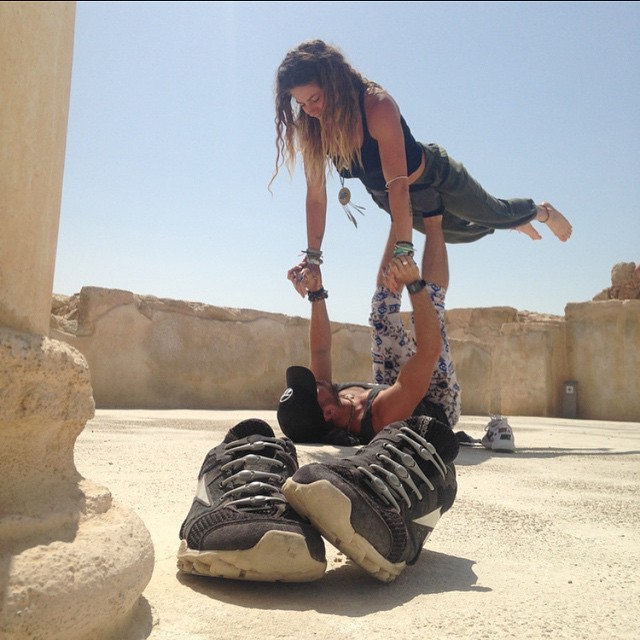 Even in yoga, having HICKIES on your kicks makes sense. Check out @tbrewer314 in #Masada, Israel making us all look bad.