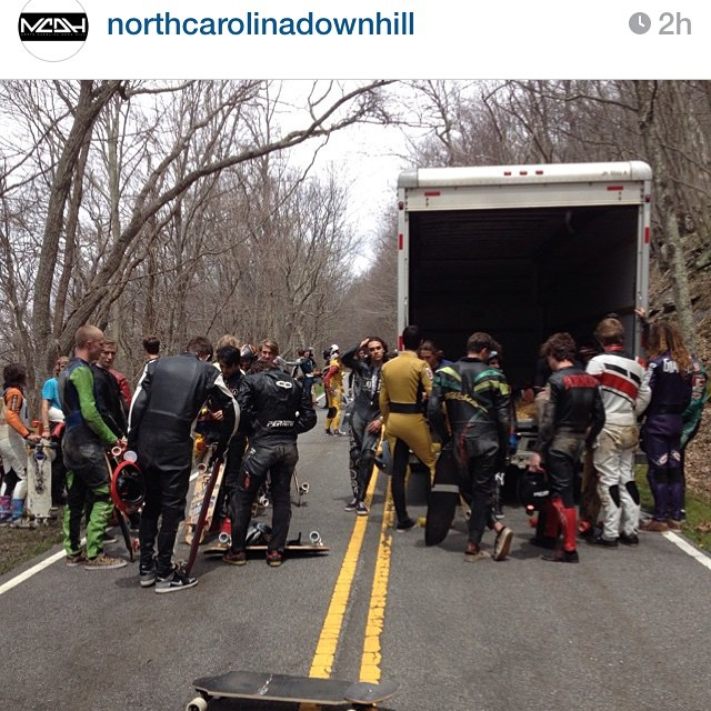 #Regram from the @northcarolinadownhill page. Things are on their way at the race on Mt. Jefferson. Fast and patchy make for some excellent race worthy conditions.