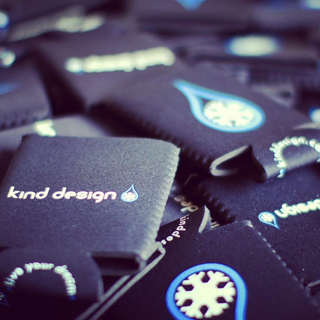 Winter is not quite over!  We will be at the top of Vail tomorrow, on closing day, passing out koozies to people who are dressed up and spreading joy!  #kinddesign #vail #colorado #closingday #koozie #keepyourbeercold #keepyourhandwarm #liveyourdream