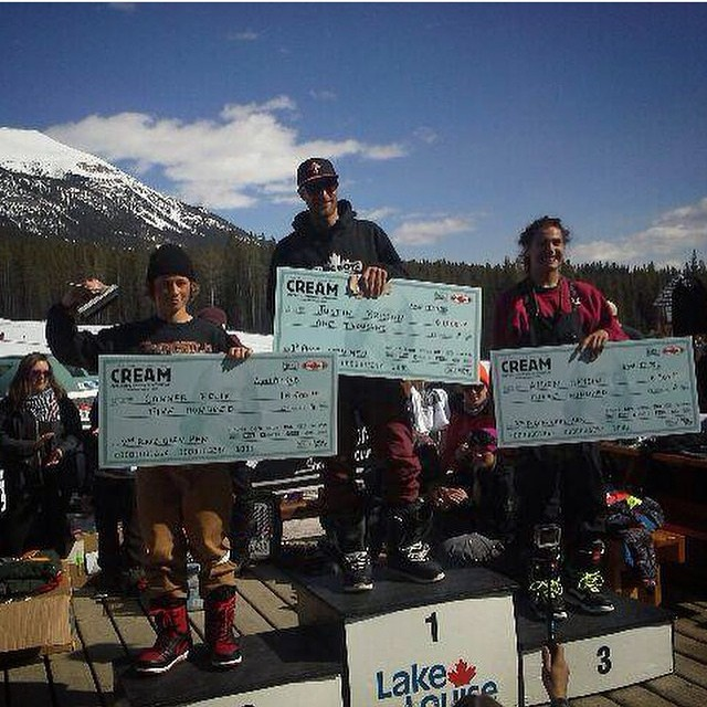 Our boy from the Great White North, Justin Brisson (@justinbrisson), took first today at the Cream Rail Jam and took himself home a cool $1000...hope he remembers the ten percent rule!