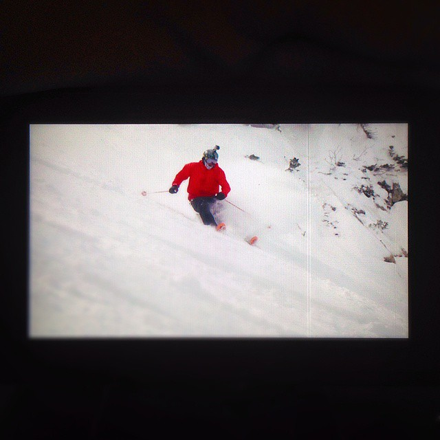 @t_hayne giving it good on the KYE 120.  New footage coming soon. #shapingskiing