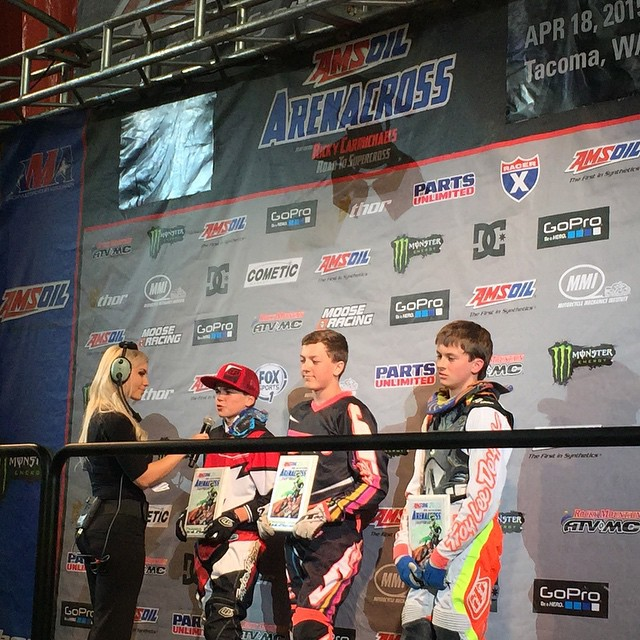 @ehastings51 killing it tonight at Seattle. Winning everything again! #Moto #arenacross @arenacross #winner #roadtovegas @braapsupply @middletowncycle