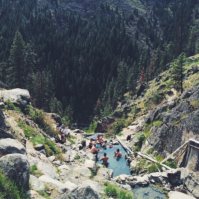You never know what you're gonna get at Skinny Dipper Hot Springs #idahome #natureofproof // photo by @tkdame