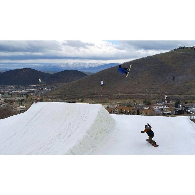Derek (@dtd801) getting a few end of season park laps at @irideparkcity before they shut her all down...