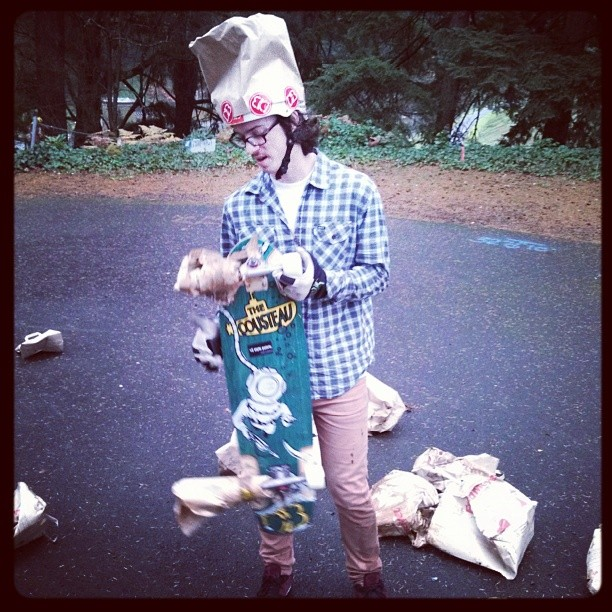 @snack_skates is a bag head. #dblongboards #portland #longboarding