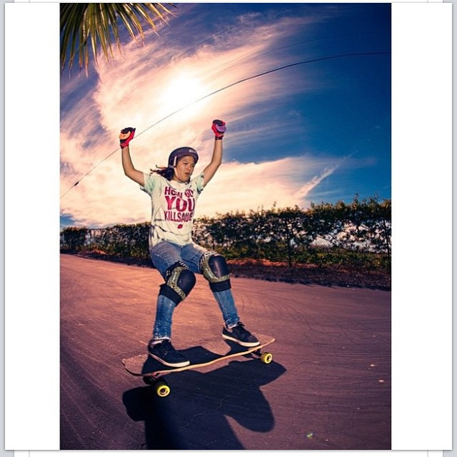 Sick shot of our lady shredder @francescarosario