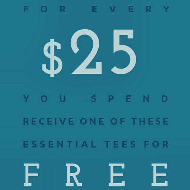 Shop all your favorite #sustainable styles now & get free tees! For every $25 you spend get a Sophie Scoop, Basic Crew or Valorie V-Neck for free. Yes, you heard right.