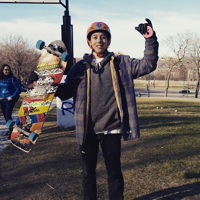 Congratulations to team rider @lp_dery on the longest slide contest in Montreal today for the 4/19 slidejam!  #restlessboards #restlesswim.  More action pictures to come!