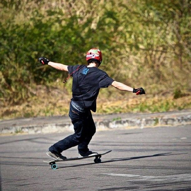 @michaelkadams snapped this ballin shot of Felipe Krepk. Switch toeside on the Diamondback. #longboarding #cali #dblongboards #dbdiamondback