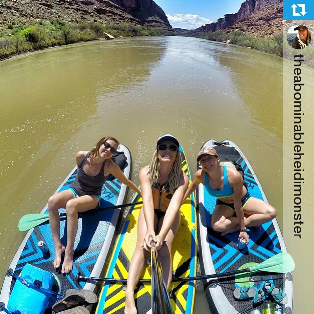 #Repost from @theabominableheidimonster ・・・ YAY Paddle! Another sunny day on the river. #adventureland #explore #goproselfie #Coloradoriver #Moab