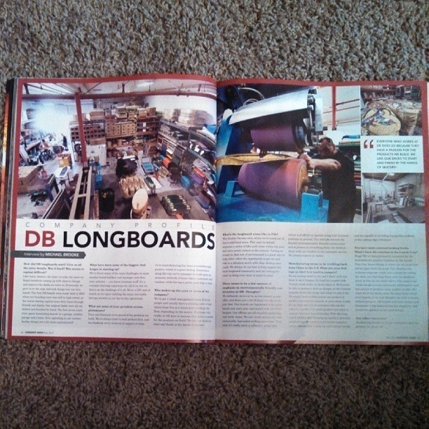 Check out the company profile on DB in the most recent issue of Concrete Wave. #dblongboards #longboarding #concretewave #seattle