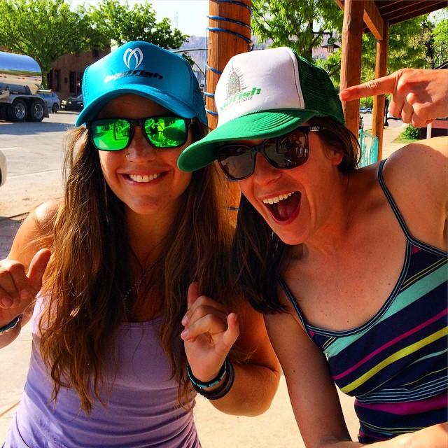 BADFISH Babes represent in Moab Utah. @badfishsup #welivewater
