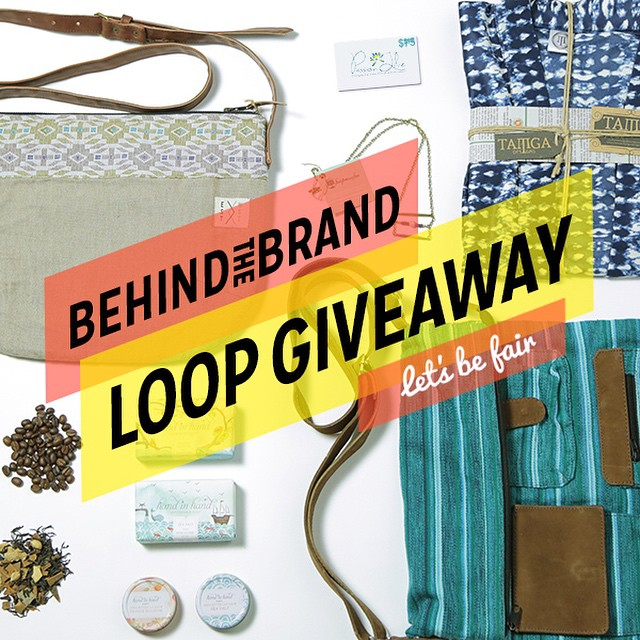 We are so excited to participate in the Let's Be Fair Behind The Brand Loop ‪#giveaway! TWO winners will receive a gift pack of incredible ethical items from thoughtful brands that give back.  All you have to do is:
