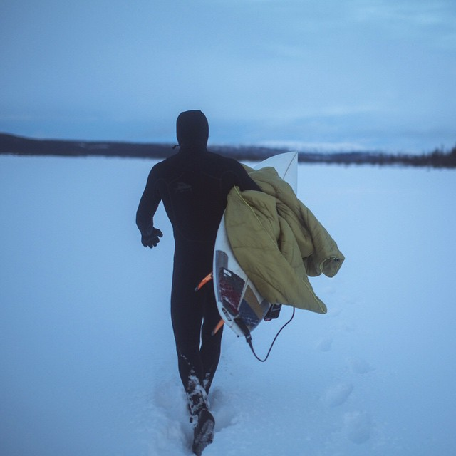 Before you complain about it being Monday, consider surfing in Sweden in the middle of winter. Be strong friends