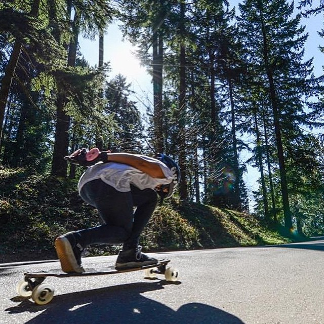 The always rad @carlajavier.b shot by @vancephotography in Portland. We love this girl.  #longboardgirlscrew #womensupportingwomen #girlswhoshred #carlajavier