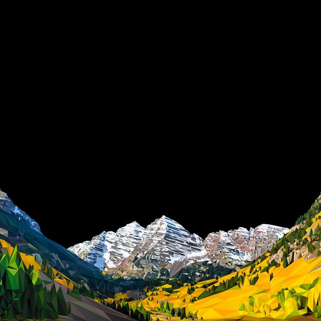 We are very excited about our new Maroon Bells Polyrado design... hand drawn using over 12,000 triangles!  Look for prints, hats, and much more. #kinddesign #maroonbells #colorado #polyrado #vector #art #design #nature #liveyourdream