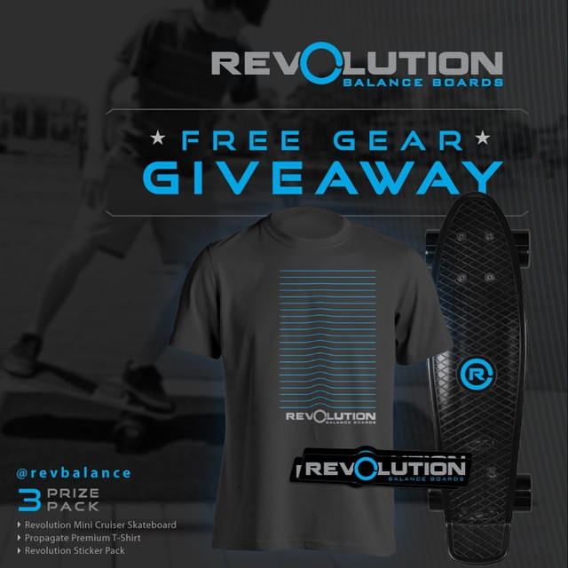 We'll be drawing our winner for our 3 Pack Revolution Giveaway next week! Be Sure to get your entries in!  Visit ⬇️⬇️⬇️ bit.ly/Revolution-Giveaway #revbalance #findyourbalance #monthlygiveaway #boardsports #skateboarding #wakeskating #wakeboarding...
