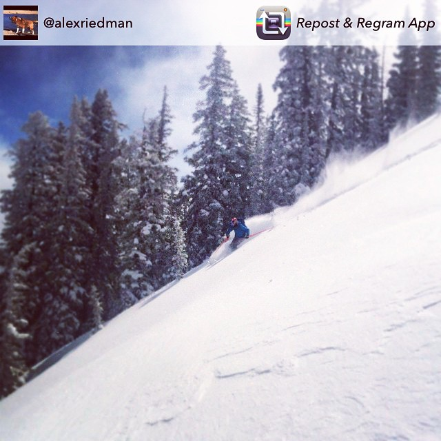 @alexriedman shredding in the #crestedbutte #backcountry #murdoch #regram