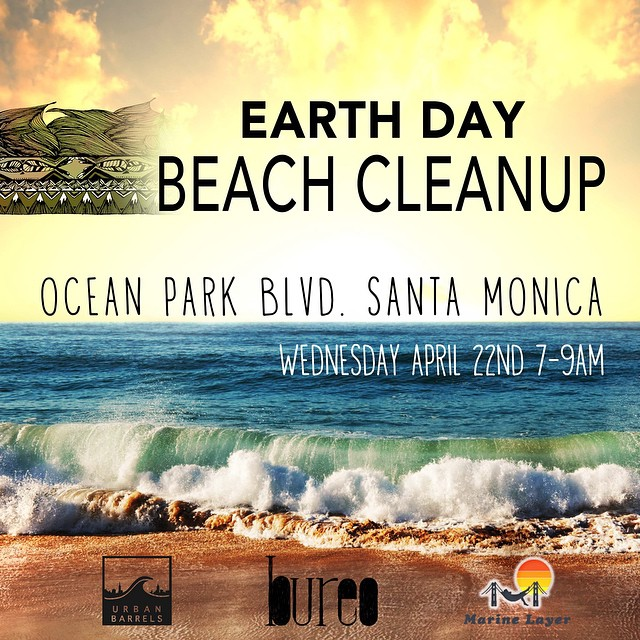 Come out and join us tomorrow for a dawn surf and beach clean up in Santa Monica at the end of Ocean Park. We will be sliding sideways and sweeping the beach with the @urbanbarrels and @marinelayer crew, surf at dawn and cleanup from 7-9am. Look for...