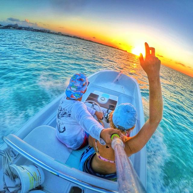 Sunset cruisin' off the coast of Nassau, Bahamas. Photo: @miaoulis17 GoPro HERO4 | GoPole Evo #gopro #gopole #gopoleevo #sunset #bahamas