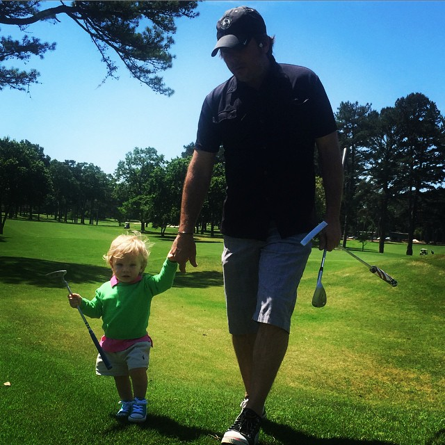 Me and my son Sevi teeing it up!! #golf #pakems #familytime