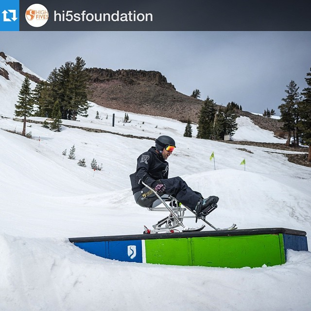 "#Repost @hi5sfoundation, ""A box a day is the only way! @grantkorgan @squawalpine #highfivesathlete"". We are all sendin HUGE #MadLuv & endless healing vibes to photographer #Abro, who took this shot & days later began an #SCI recovery of his own... All..."