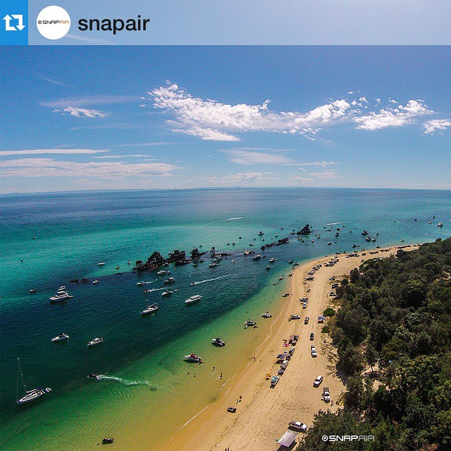 Happy #earthday from #DJI!  Moreton Island, QLD by @snapair