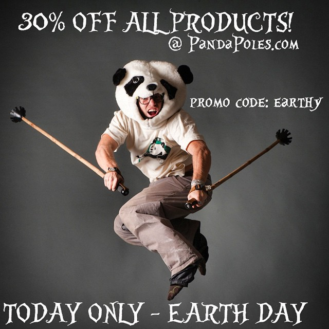 Every day is Earth Day! But just like a birthday we celebrate this Earth Day! We love our mama, Pachamama, Terra, Mother Earth!  Happy Earth Day!  ALL PRODUCTS 30% OFF at PandaPoles.com! TODAY ONLY!  Promo code: EARTHY  Photo: Weston Hall...