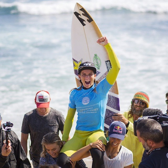 A huge congrats to the ever stoked #TeamB4BC rider @courtneyconlogue for winning #MargiesPro yesterday! #behealthygetactive  Photo: @wsl | @kirstinscholtz