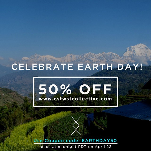 Everyday is earth day but today we wanted to do something extra special for our fans who step up to do their part to consume consciously. #earthday #coupon