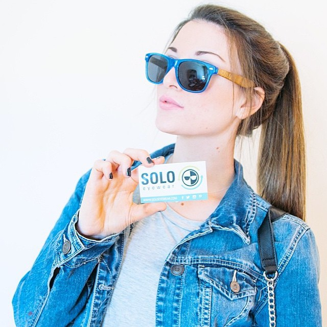Our #wcw is the very talented @justinemorrow! Happy to have her on board as the newest member of our SOLO Eyewear team!