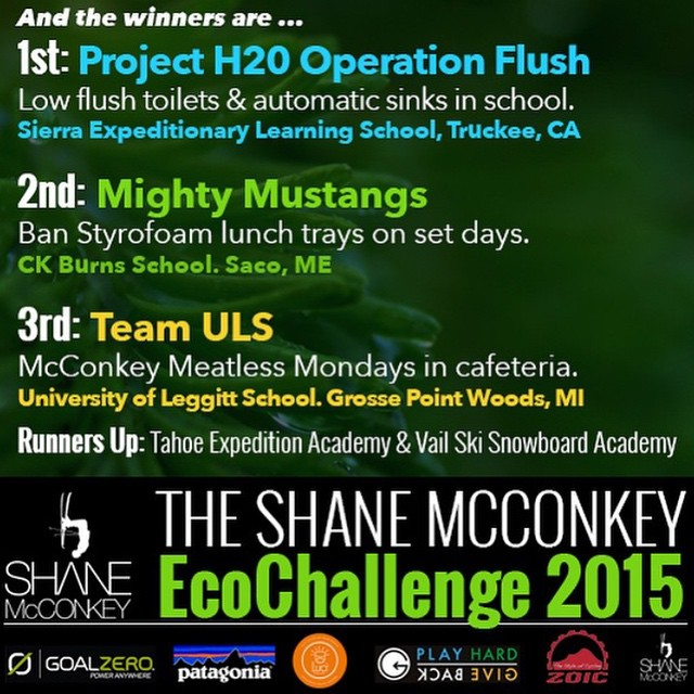 Happy Earth Day!! We are happy to announce the winners of the Shane McConkey Eco Challenge! #jointhemovement #phgb @sherrymcconkey