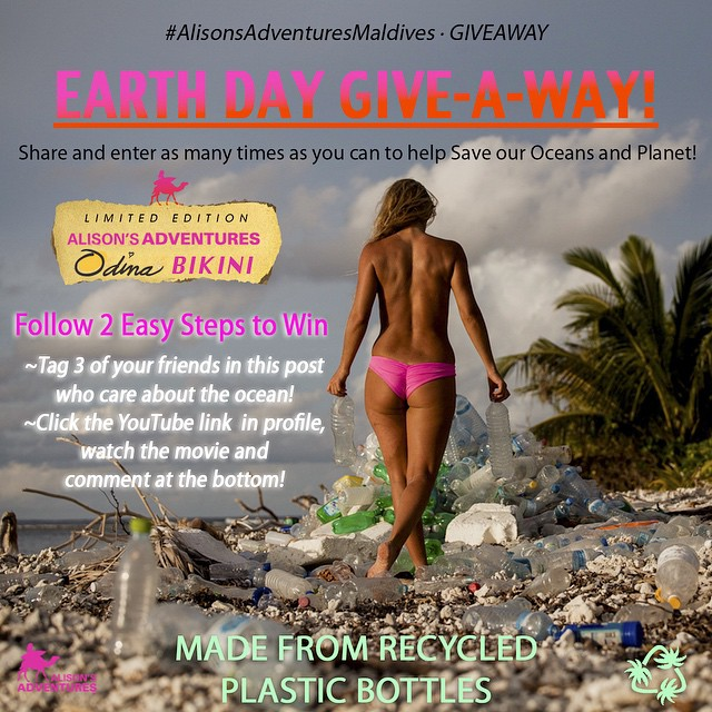 In honor of #EarthDay @odinasurf and I are giving away a BIKINI from my film (link in my profile). TWO STEPS TO WIN:  #1) tag 3 friends  #2) click the link in my profile, watch the film, and write a comment on YouTube of your thoughts on it!  Contest...