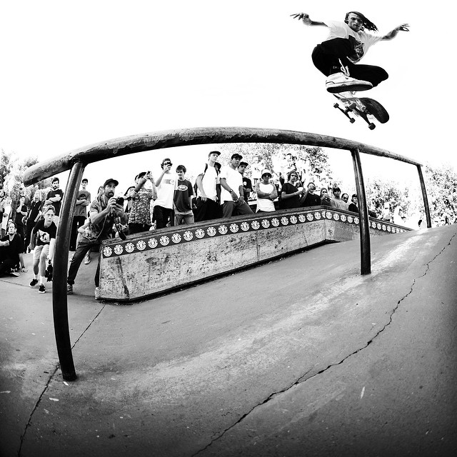 @staheadbody is down with @elementalawareness and spreads the good word of environmental skills and education throughout his world travels; he's also damn inspiring on a skateboard. #earthday Kickflip back lip from the #rumbledownunder...