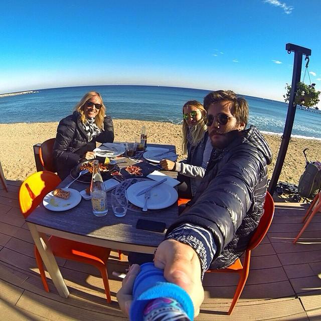 @pikuvidal y @joaco.vidal con su #ShortPole en #LaBarceloneta !!