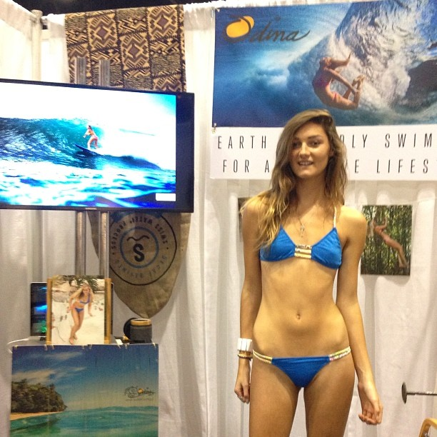 @alex10e rocking the #brandnew #bohemian #connection #bottom and #Boho #Bu #top in #Azure #Hanalei #nofilter #surfexpo